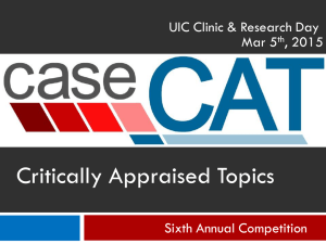 CaseCAT Overview (PowerPoint)