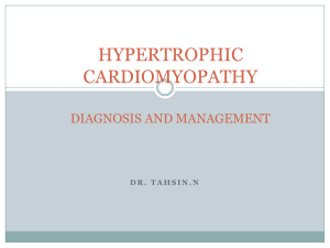 hypertrophic cardiomyopathy diagnosis and management