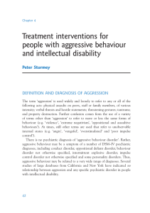 Treatment interventions for people with aggressive behaviour and