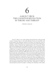 Aaron T. Beck: The cognitive revolution in theory