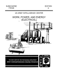 work, power, and energy (electrical)
