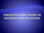 Perception and theory in International Relations