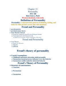 Freud`s theory of personality