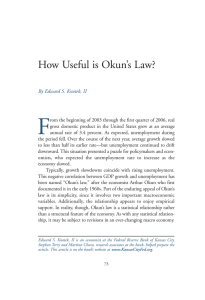 How Useful is Okun`s Law? - Federal Reserve Bank of Kansas City