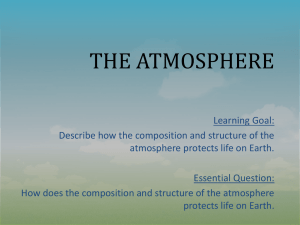 The Early Atmosphere - Leon County Schools