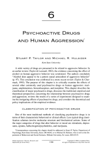 6 psychoactive drugs and human aggression