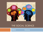 Uni1- Intro to the Social Sciences 2015