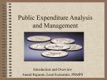 Public Expenditure Analysis and Management
