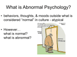 What is Abnormal Psychology?