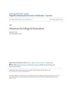 American Sociological Association - DigitalCommons@University of
