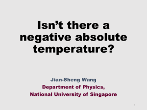 Is there a negative absolute temperature?