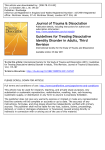 Guidelines for Treating Dissociative Identity Disorder in Adults, Third