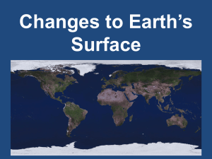 Changes to the Surface of Earth for website