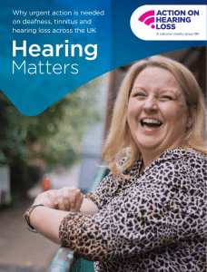 Hearing - Action On Hearing Loss