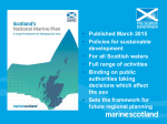 Scotland*s first National Marine Plan Anna Donald 24 April 2015