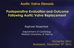 Postoperative evaluation and outcome following aortic valve