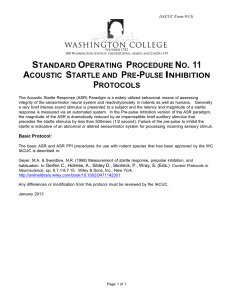 SOP #11 Acoustic Startle and Pre