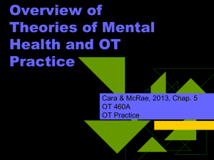 Week Three 7 11 12 Overview of Psychological Theories and OT