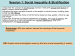 Unit 2: Social Inequality