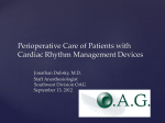 Perioperative Management of Patients with Cardiac Rhythm