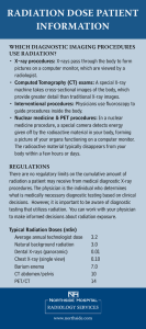 radiation dose patient information
