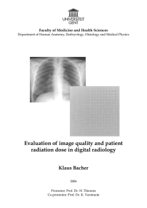Evaluation of image quality and patient radiation dose in digital