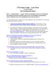 Study Guide - Unit 3 - Environmental Issues