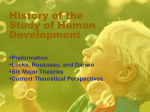 History of the Study of Human Development