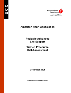 American Heart Association Pediatric Advanced Life Support Written