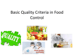 Basic Quality Indices in Food Control