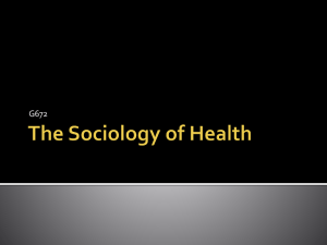 The Sociology of Health
