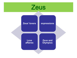 Zeus and Olympics of Ancient Greece Features