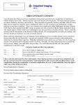 MRI Contrast Consent Form - HCA VA Outpatient Imaging