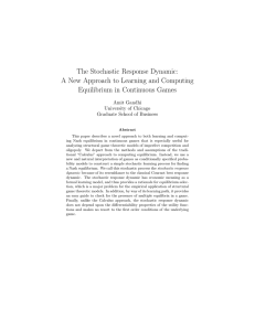 The Stochastic Response Dynamic: A New Approach to Learning
