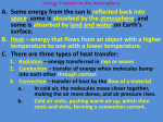 energy that flows from an object with a higher temperature to one