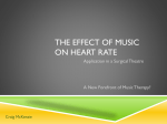 The effect of music on heart Rate