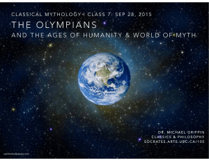 The Olympians - Ancient Philosophy at UBC