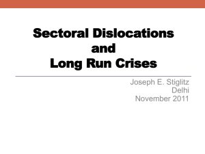 Sectoral Dislocation and Long Run Crises