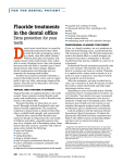 Fluoride treatments in the dental office