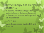 Electric Energy and Current Chapter 17