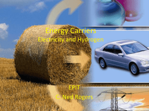 Energy Carriers Electricity and Hydrogen