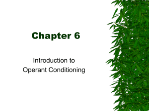 Chapter 6, Operant Conditioning