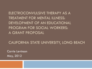 Electroconvulsive Therapy as a Treatment for Mental Illness