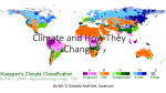 Climate and How They Change - The Russell Elementary Science