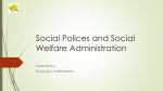 Social Polices and Social Welfare Administration