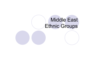 Middle East Ethnic Groups