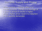 Supply Demand Pricing Notes