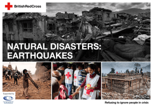 natural disasters: earthquakes