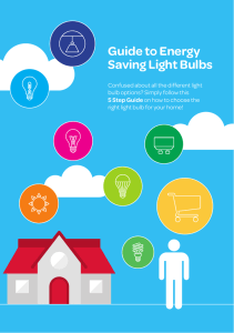 Guide to Energy Saving Light Bulbs