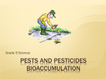 PESTS AND PESTICIDES bioaccumulation